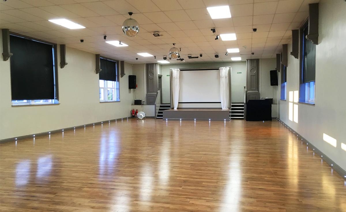 zone22 interior, banner, large file, studio lights, studio hire