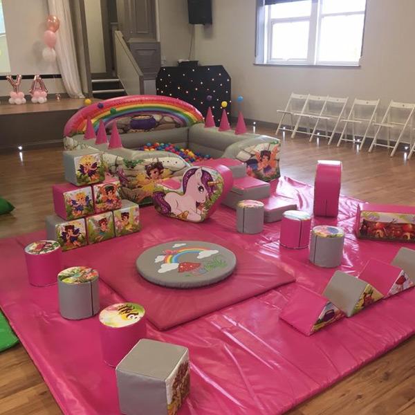 Child Playarea, Unicorn Play area, kids party, children's birthday