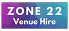 Zone22 logo, multicolored, venue hire